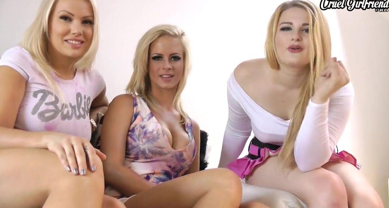 Блонда с татухами на теле смазала ляжки маслом и получила член мачо в задницу